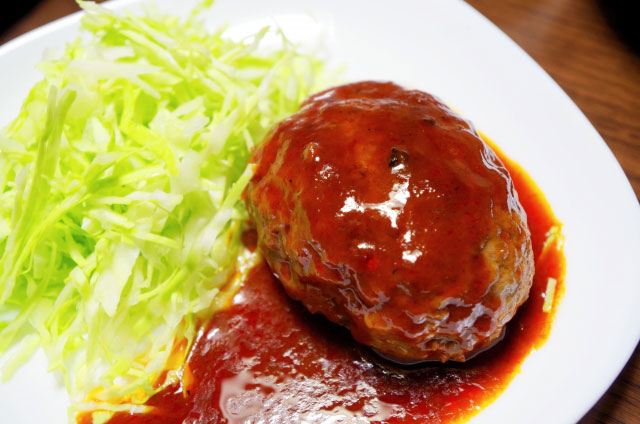 ケチャップハンバーグ